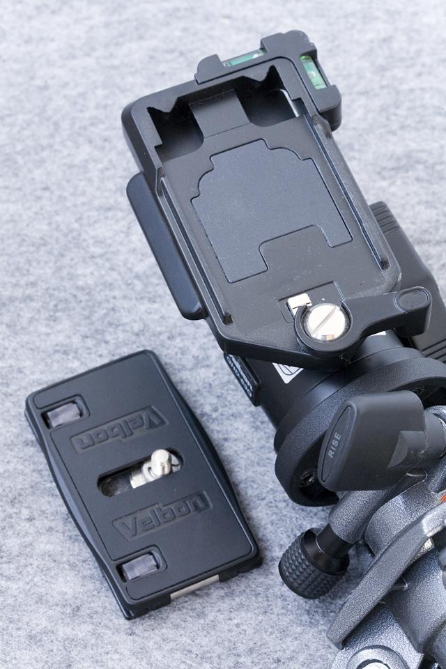 GIOTTOS:ジオットスのカーボン三脚「MT8350」とVelbon:ベルボンの自由雲台「QHD-63Q」のセット-14