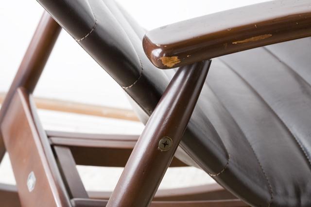 「MATSUDA:マツダ:松田家具」のフットレスト付ロッキングチェア-16