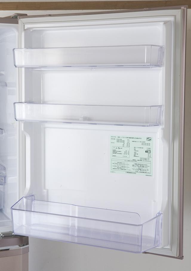 MITSUBISHI:三菱の自動製氷機能付3ドア冷凍冷蔵庫「MR-C34W」-10