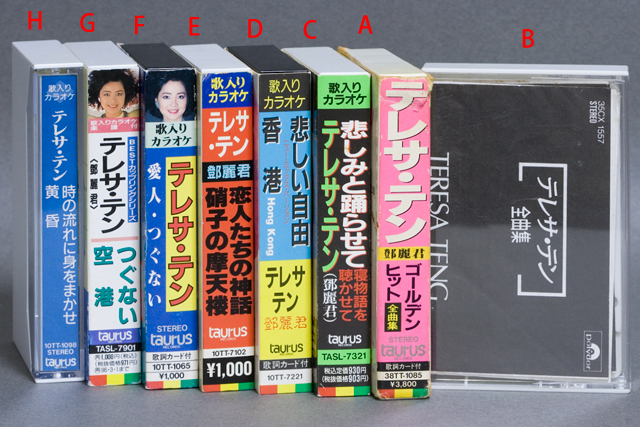 「テレサ・テン:鄧麗君」カセットテープ-01a
