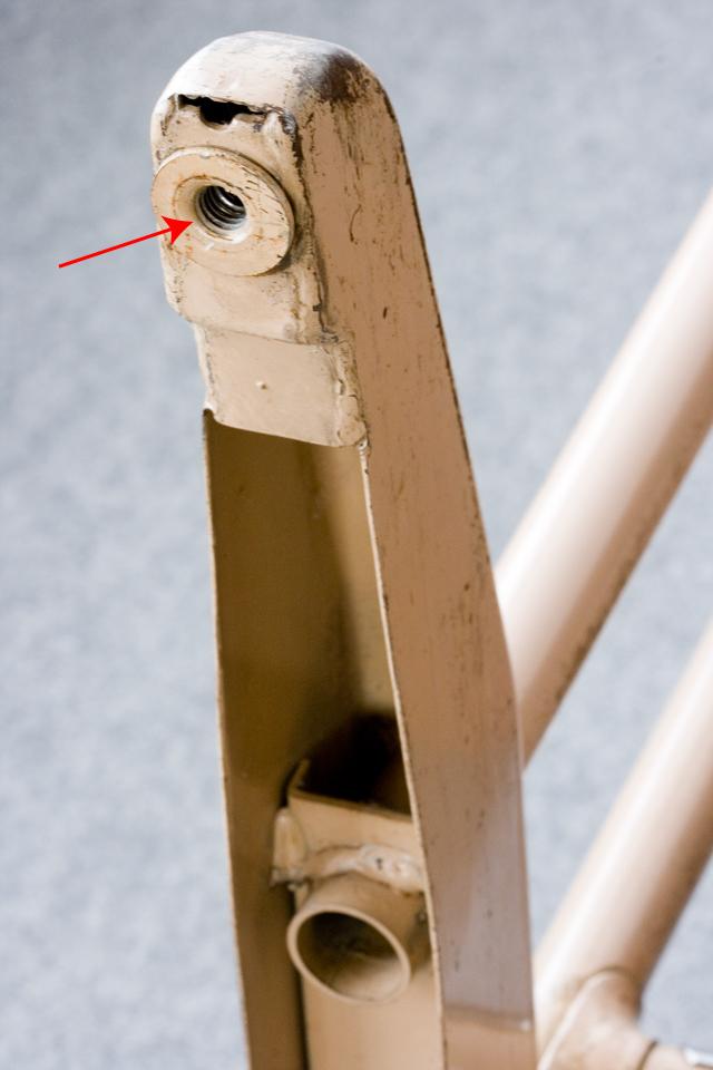 ビンテージなインダストリアル系鉄脚デスク-22a