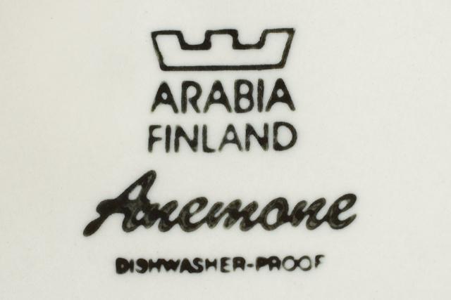 ARABIA:アラビア社の「Anemone:アネモネ」ティーポット-14