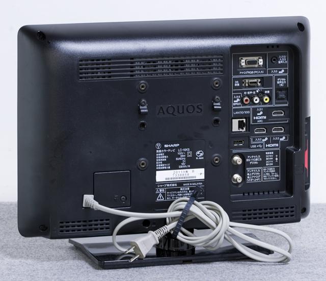 SHARP:シャープの16V型液晶テレビ:TV、AQUOS:アクオス「LC-16K5」-05