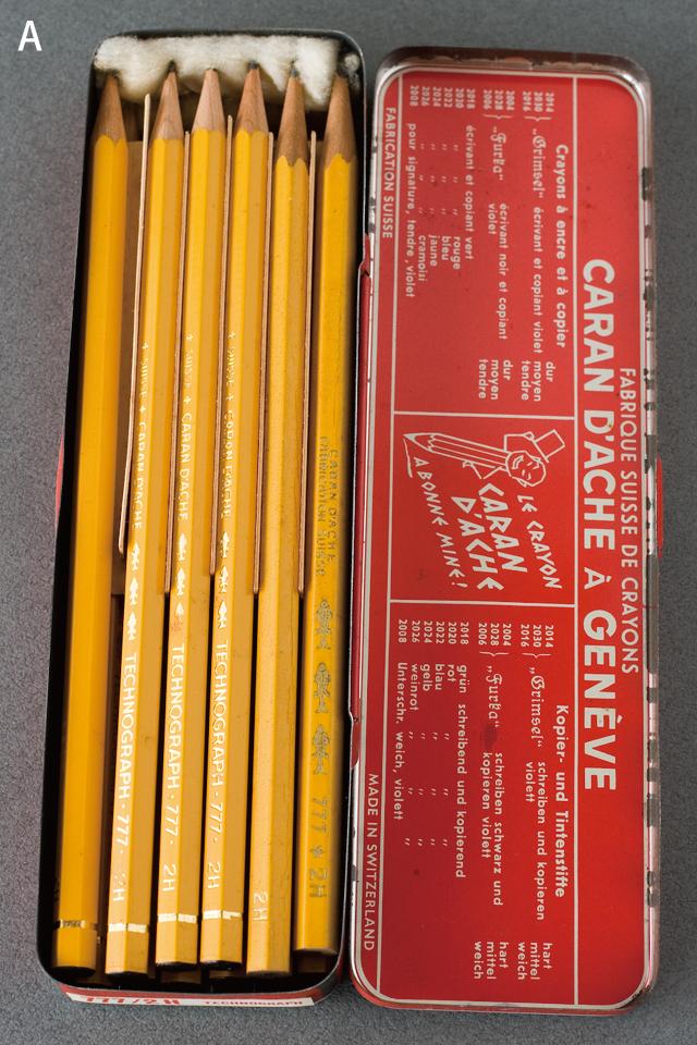 スイス製「CARAN D'ACHE:カランダッシュ」のペン・筆記用具-04a