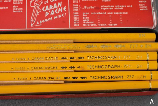 スイス製「CARAN D'ACHE:カランダッシュ」のペン・筆記用具-05a