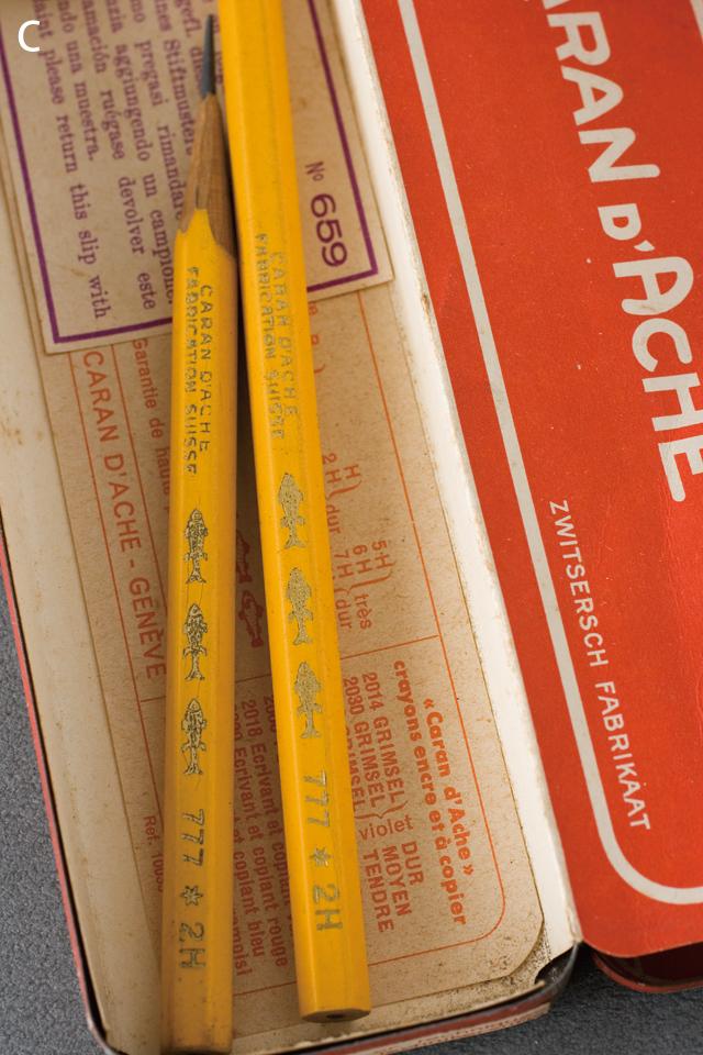 スイス製「CARAN D'ACHE:カランダッシュ」のペン・筆記用具-11a