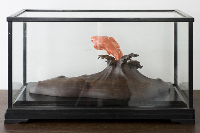珊瑚の鯉の置物-01