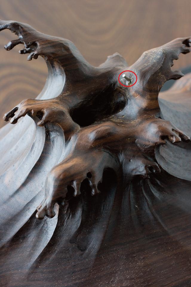 珊瑚の鯉の置物-11a