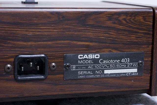 CASIO:カシオのキーボード「Casiotone 403」-03