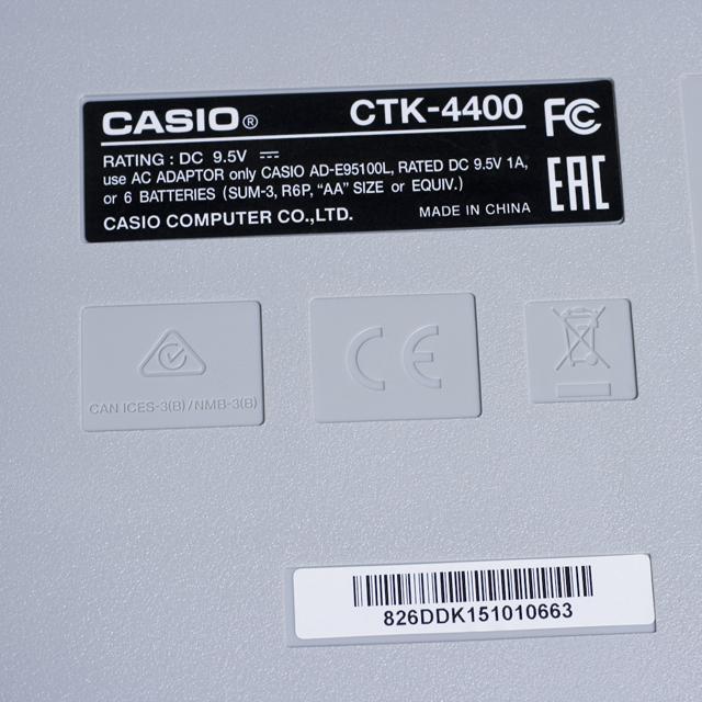 CASIO:カシオのベーシックキーボード「CTK-4400」-05