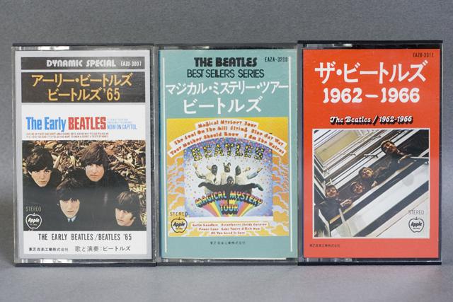 BEATLES:ビートルズのカセットテープ3本セット-01