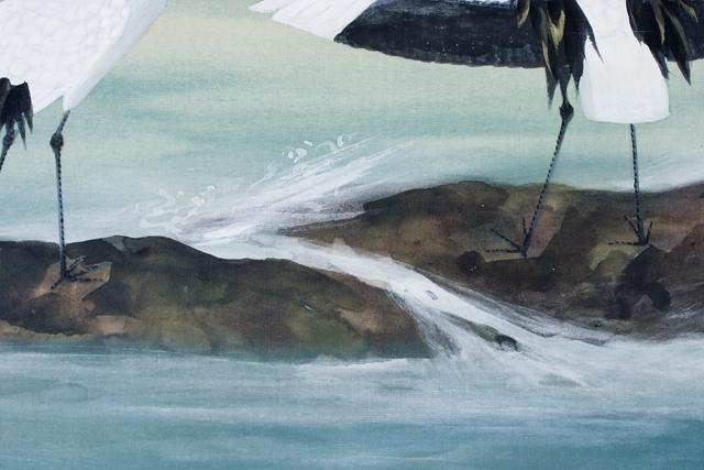 日本画家「川村憲邦:かわむらけんぽう」旭日双鶴-08