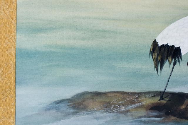 日本画家「川村憲邦:かわむらけんぽう」旭日双鶴-09