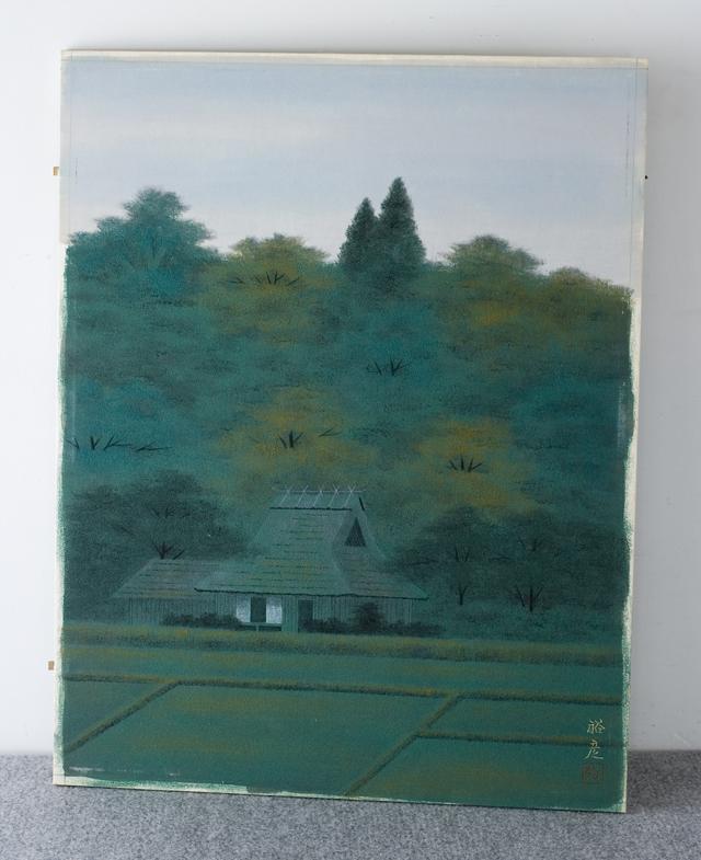 日本画家「宇田裕彦:うだひろひこ」の里山風景画「洛北の里」-03