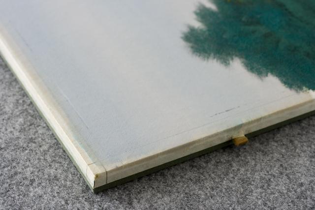 日本画家「宇田裕彦:うだひろひこ」の里山風景画「洛北の里」-09