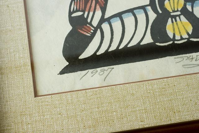 版画家「渡辺禎雄:SADAO WATANABE」の聖書版画「最後の晩餐」-04