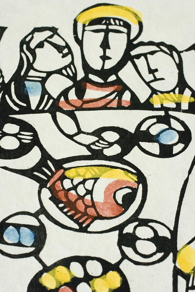 版画家「渡辺禎雄:SADAO WATANABE」の聖書版画「最後の晩餐」-06