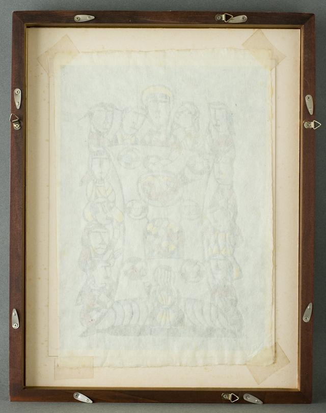 版画家「渡辺禎雄:SADAO WATANABE」の聖書版画「最後の晩餐」-10
