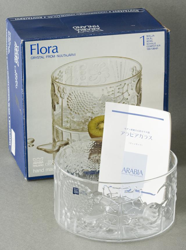 ARABIA:アラビアの「Flora:フローラ」ガラスボウル-01