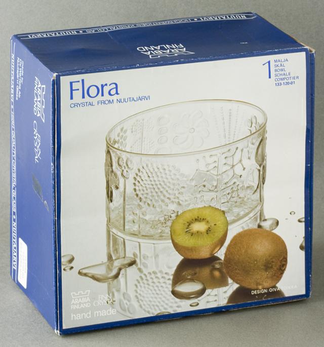 ARABIA:アラビアの「Flora:フローラ」ガラスボウル-08