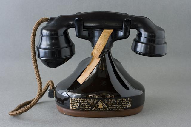 BEAM:ビーム社の「電話機型ボトル容器」未開栓バーボンウイスキー-03