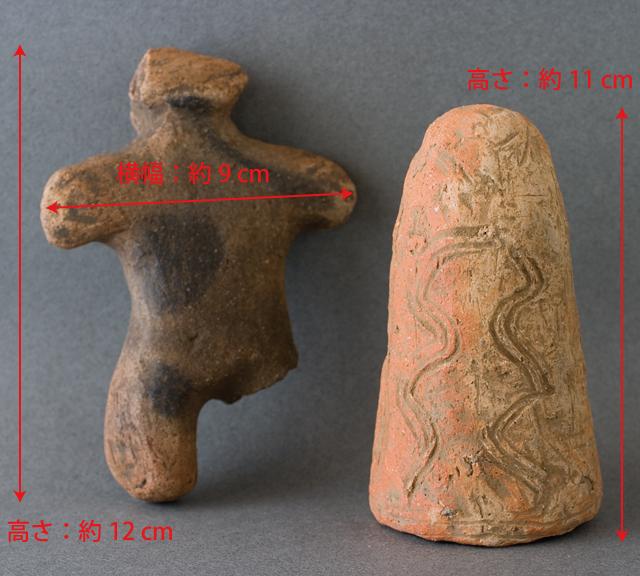 土偶や石器等の出土品-14a