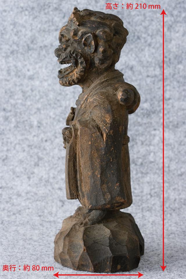 古い鬼の木彫像-04a