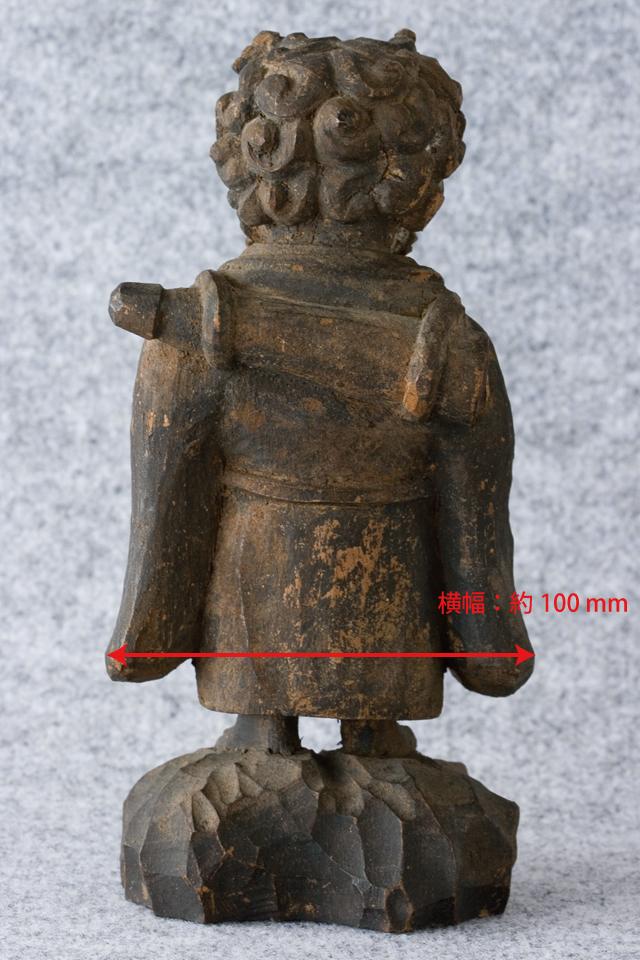 古い鬼の木彫像-05a