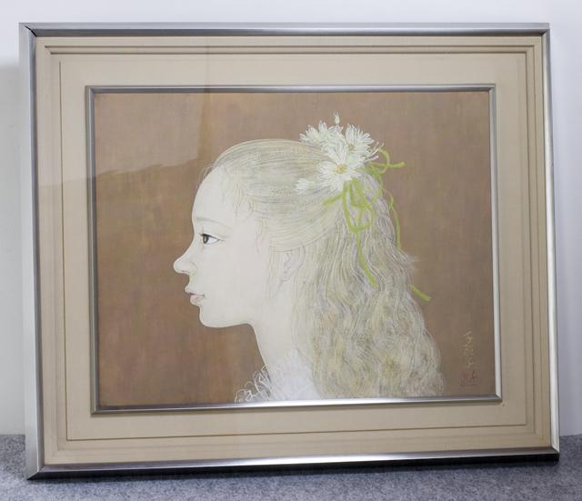 日本画家|皆川千恵子の「白い花」-01