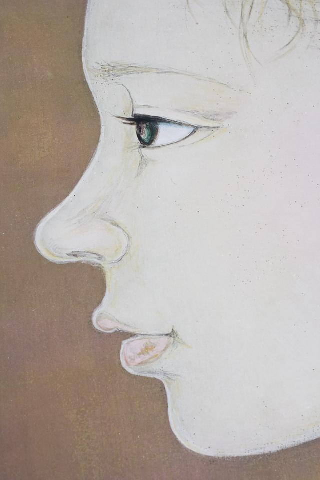 日本画家|皆川千恵子の「白い花」-09