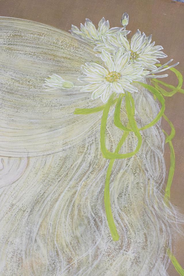 日本画家|皆川千恵子の「白い花」-10