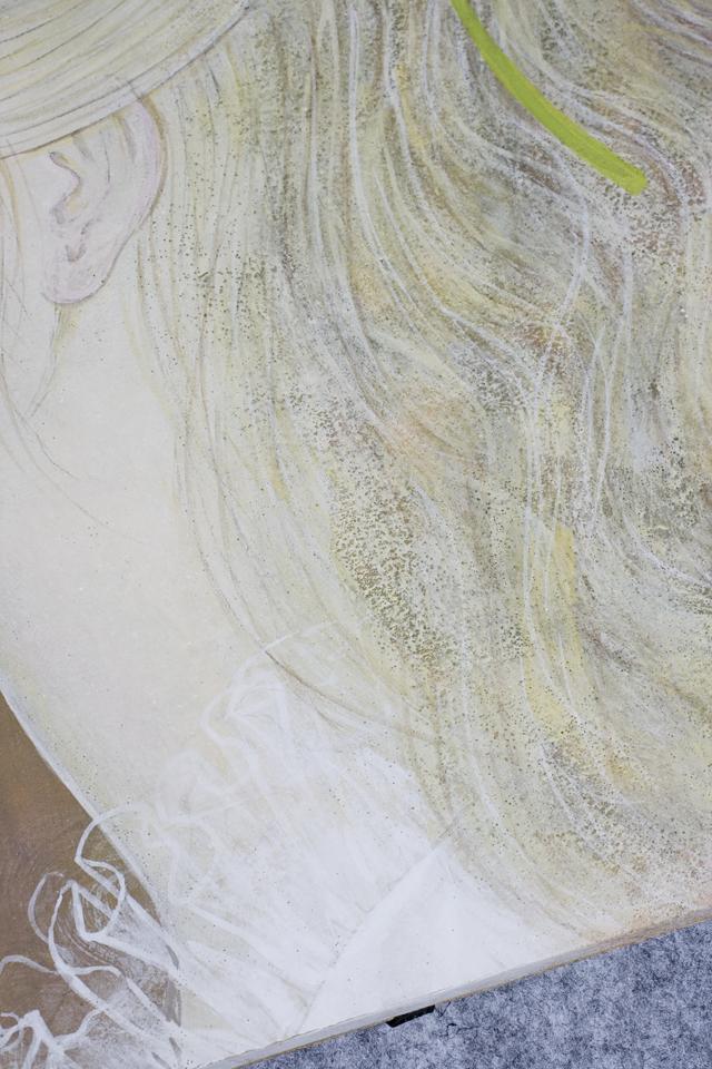 日本画家|皆川千恵子の「白い花」-11