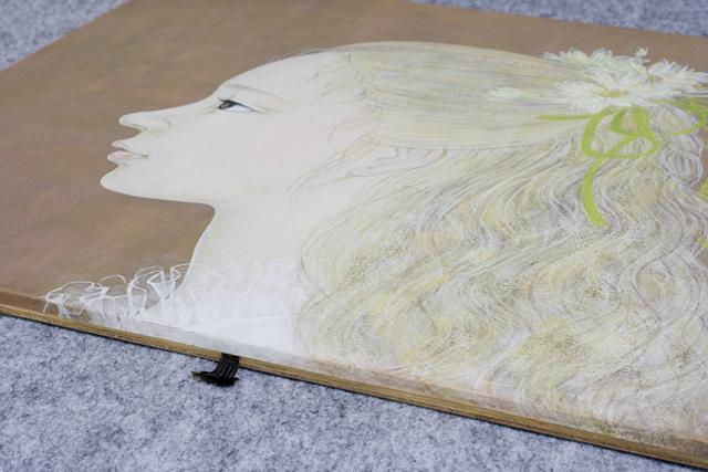 日本画家|皆川千恵子の「白い花」-12