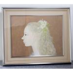 日本画家|皆川千恵子の「白い花」