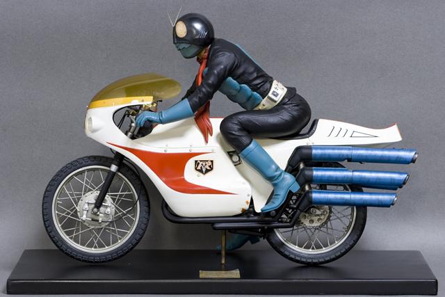 レインボー造形企画謹製の中古フィギュア「RMW仮面ライダー旧1号&旧サイクロン号」-08
