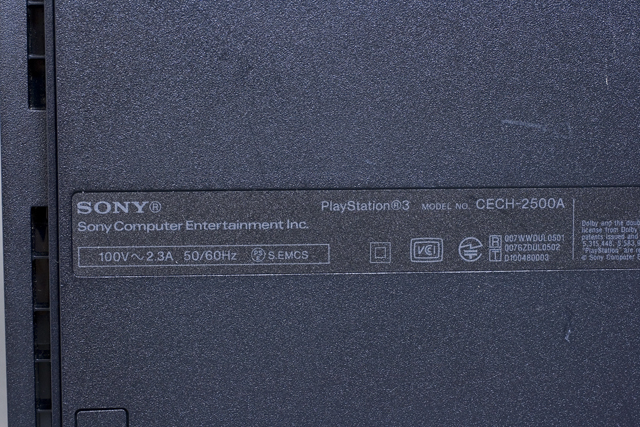 SONY:ソニーのPS3:プレイステーション3「CECH-2500A」-10