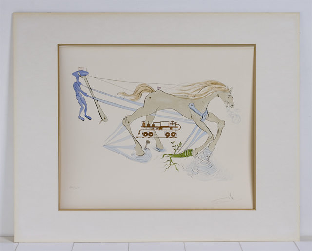 「Salvador Dali:サルバドール・ダリ」のリトグラフ-03