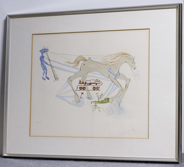 「Salvador Dali:サルバドール・ダリ」のリトグラフ-01