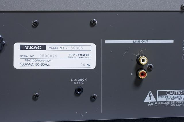 TEAC:ティアックのカセットデッキ「V-6030S」-09