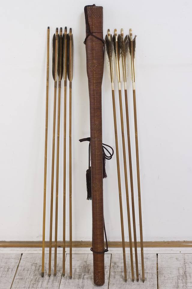 銘入り弓道具「竹矢|羽根矢」-01