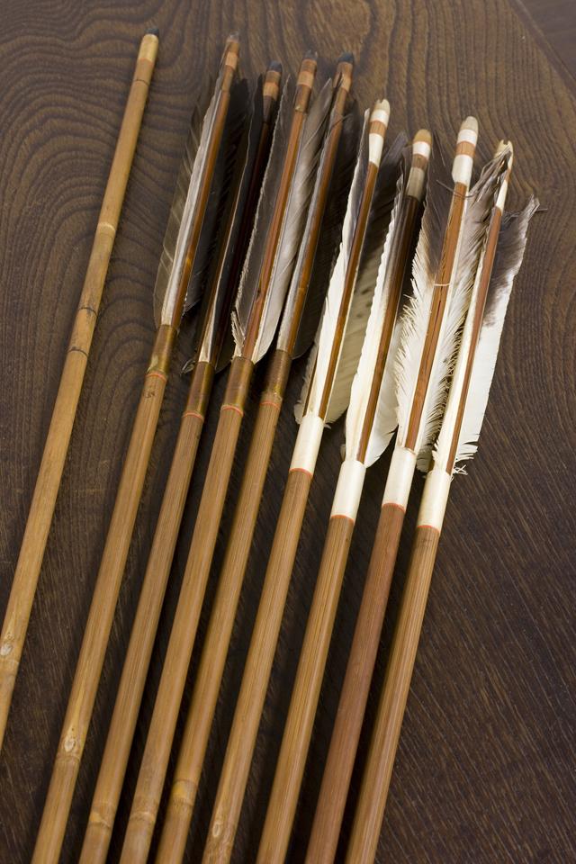銘入り弓道具「竹矢|羽根矢」-02