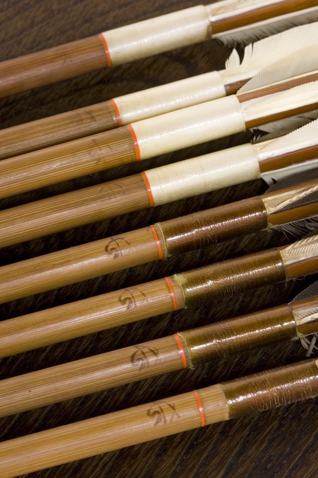 銘入り弓道具「竹矢|羽根矢」-04