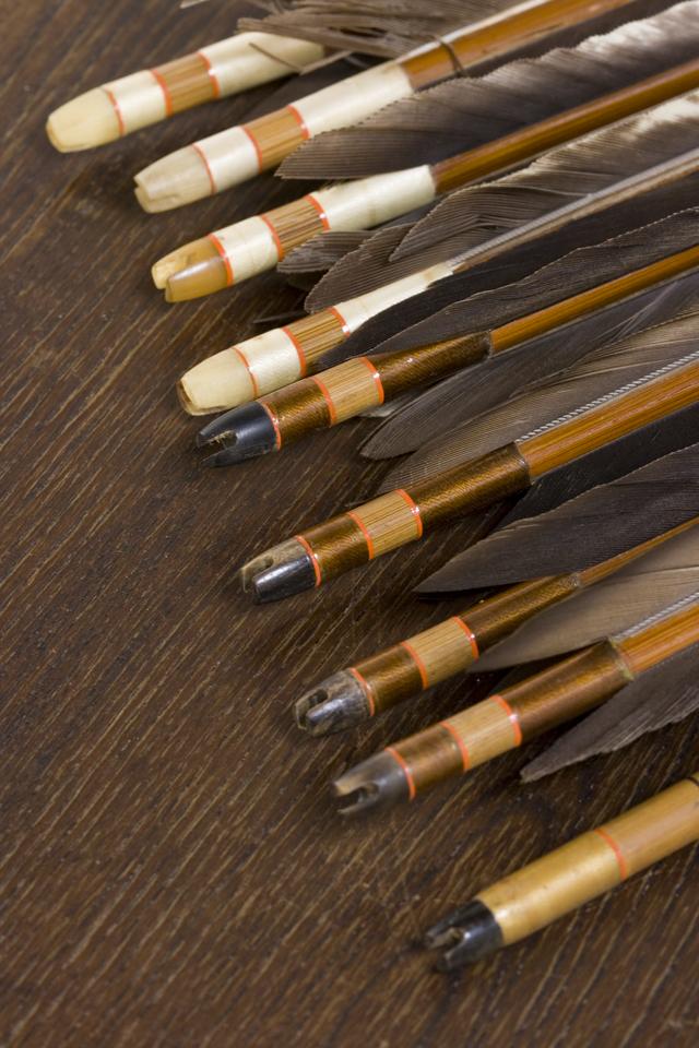 銘入り弓道具「竹矢|羽根矢」-06