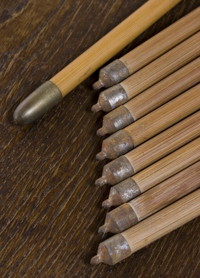 銘入り弓道具「竹矢|羽根矢」-08