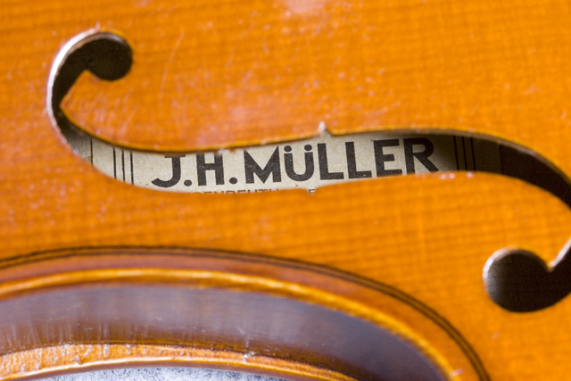 「J.H.MULLER:ミューラー」のドイツ製バイオリンセット-16