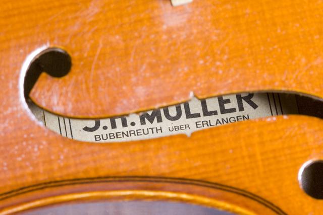「J.H.MULLER:ミューラー」のドイツ製バイオリンセット-17
