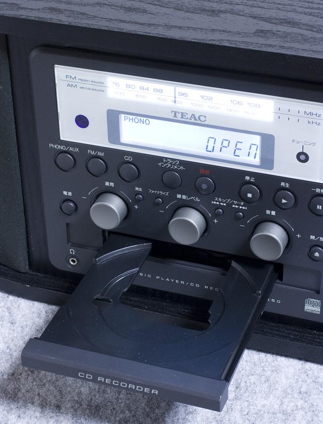 TEAC:ティアックのターンテーブル付CDレコーダー「GF-350」-04