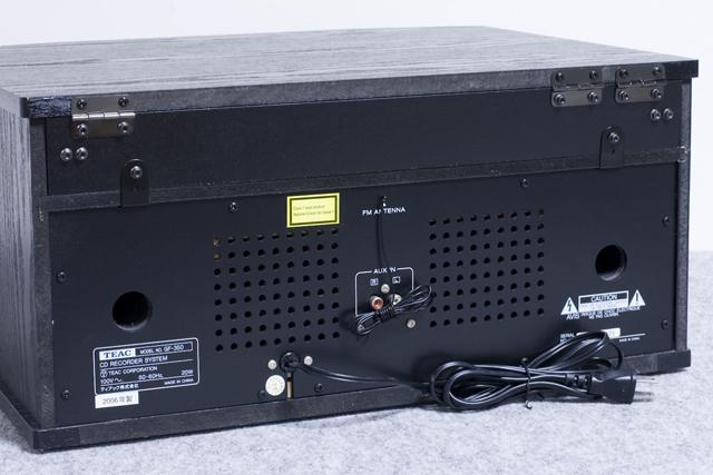 TEAC:ティアックのターンテーブル付CDレコーダー「GF-350」-07