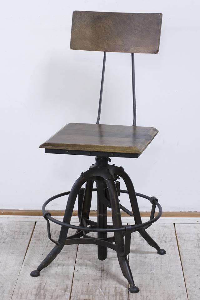 インダストリアルチェア|鉄脚回転椅子-01