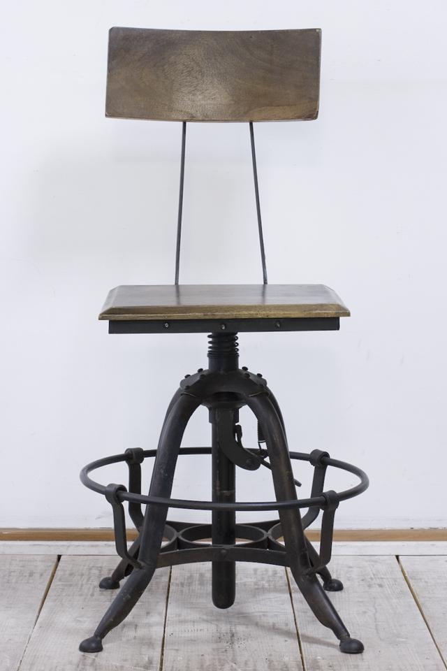 インダストリアルチェア|鉄脚回転椅子-02